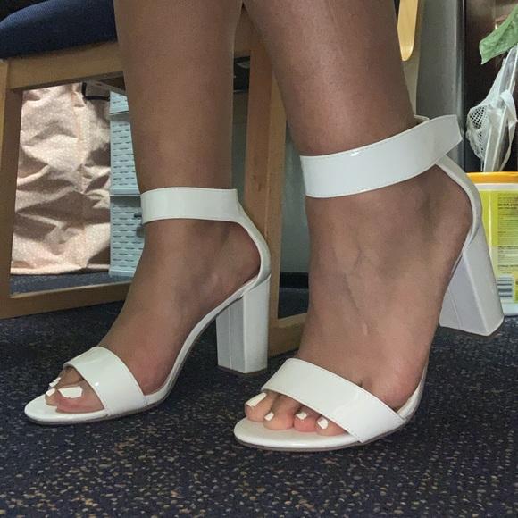 White Never Worn Comfy Heels | Poshmark